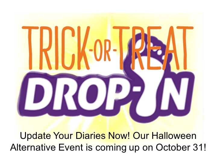 Update Your Diaries Now! Our Halloween Alternative Event is coming up on October 31!